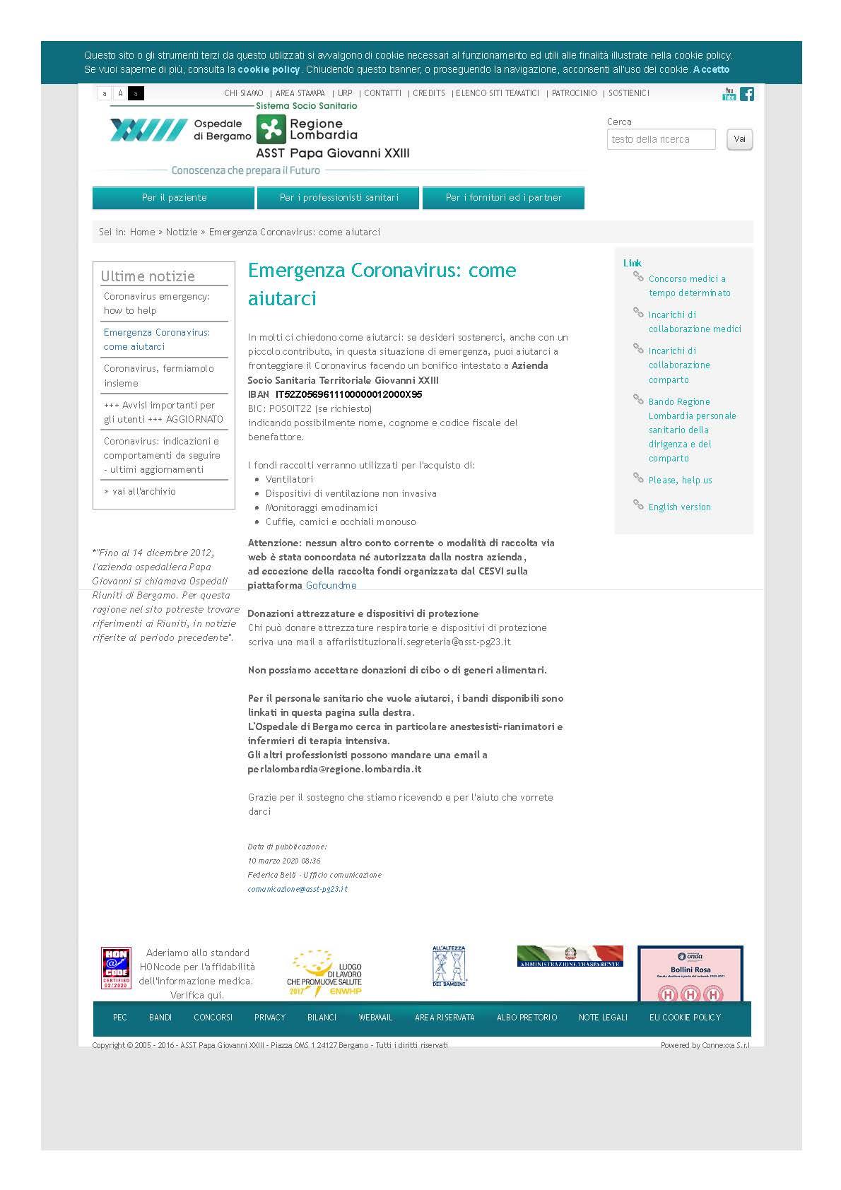 Cura e Ricerca _ Emergenza Coronavirus_ come aiutarci